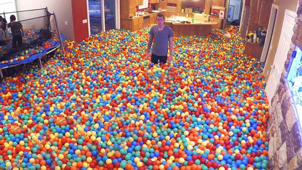 Husband Pulls Epic Ball Pit Prank on His Wife