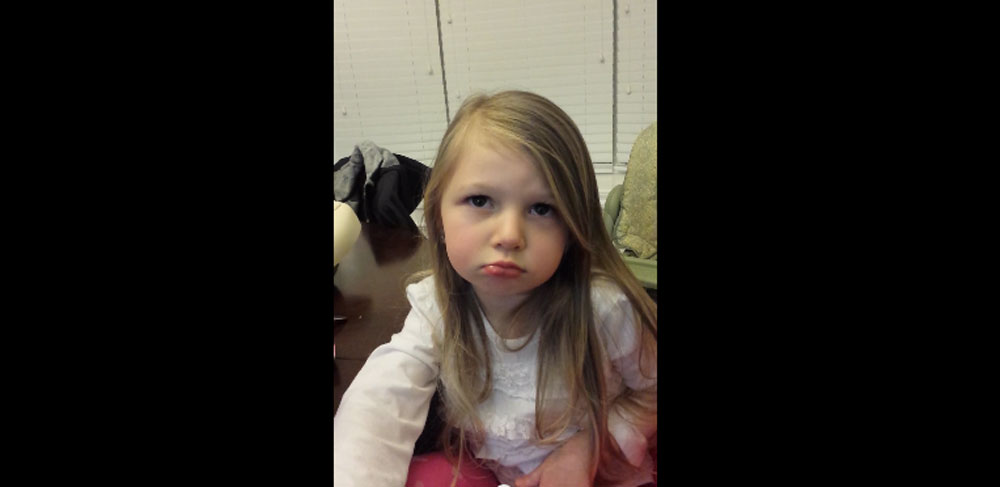 Adorable 3 Year Old Claims Green Beans Give Her a Headache