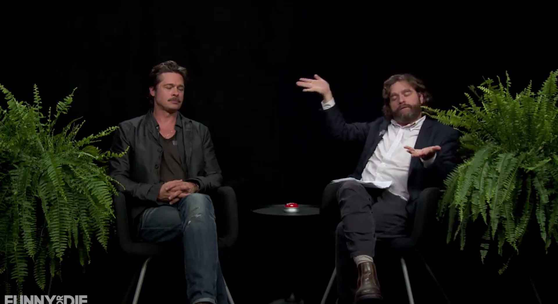 "Brad Pitt Joins Zach Galifianakis on ""Between Two Ferns"""