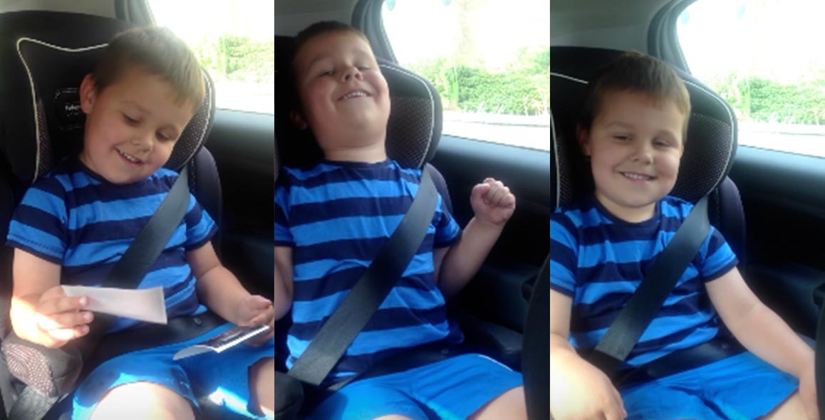 5 Year Old Has Adorable Reaction To News Of Becoming A Big Brother