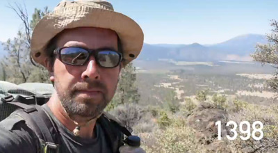 Man Hikes 2600 Miles From Mexico to Canada and Takes a Selfie Every Mile