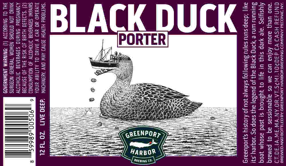 Beer Label Breakdown with Greenport Harbor Brewing's Artist Scott Bluedorn, Part 3: Black Duck Porter
