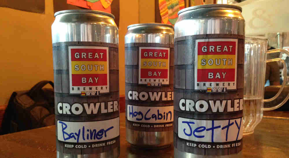 Get Your Crowler at Great South Bay Brewery