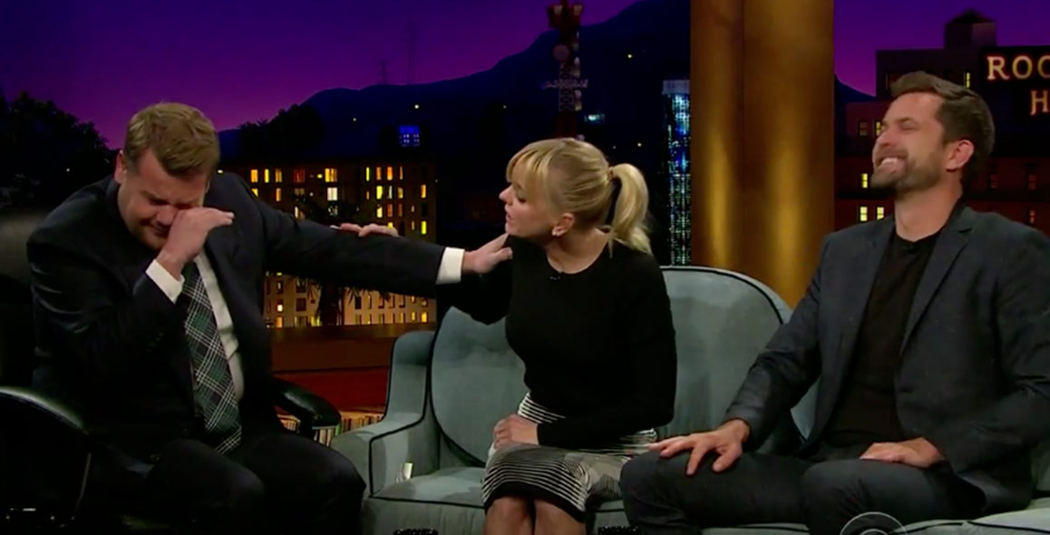 James Corden Gets Crying Lessons From Anna Faris & Joshua Jackson