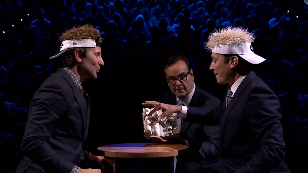 Egg Russian Roulette: Jimmy Fallon vs Bradley Cooper