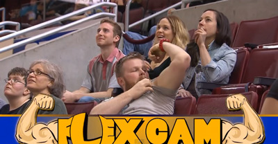 Jacked Woman Embarrasses Man When She Shows Him Up on The Flex Cam