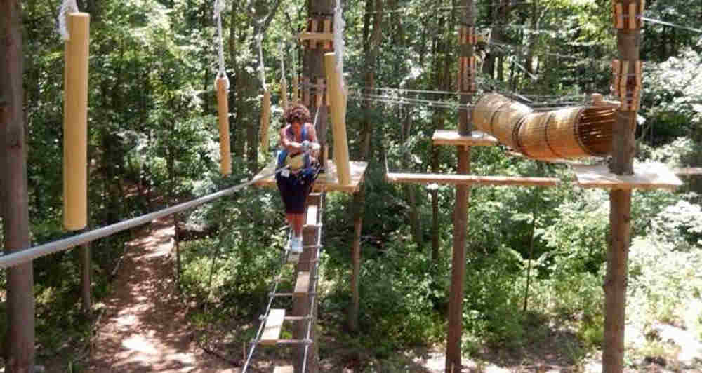 Zip Lines, Rope Bridges and More at The Adventure Park