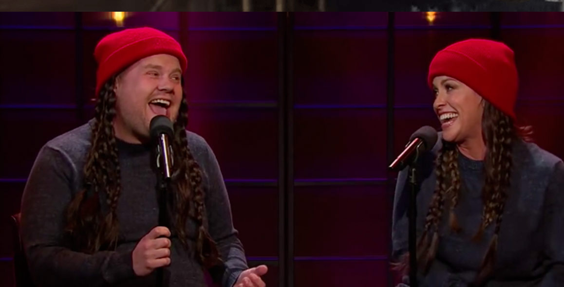 "Alanis Morissette And James Corden Rewrite ""Ironic"" For 2015"