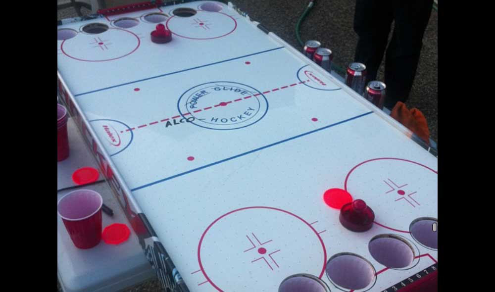Introducing Alcohockey: Canada's Official Response to Beer Pong