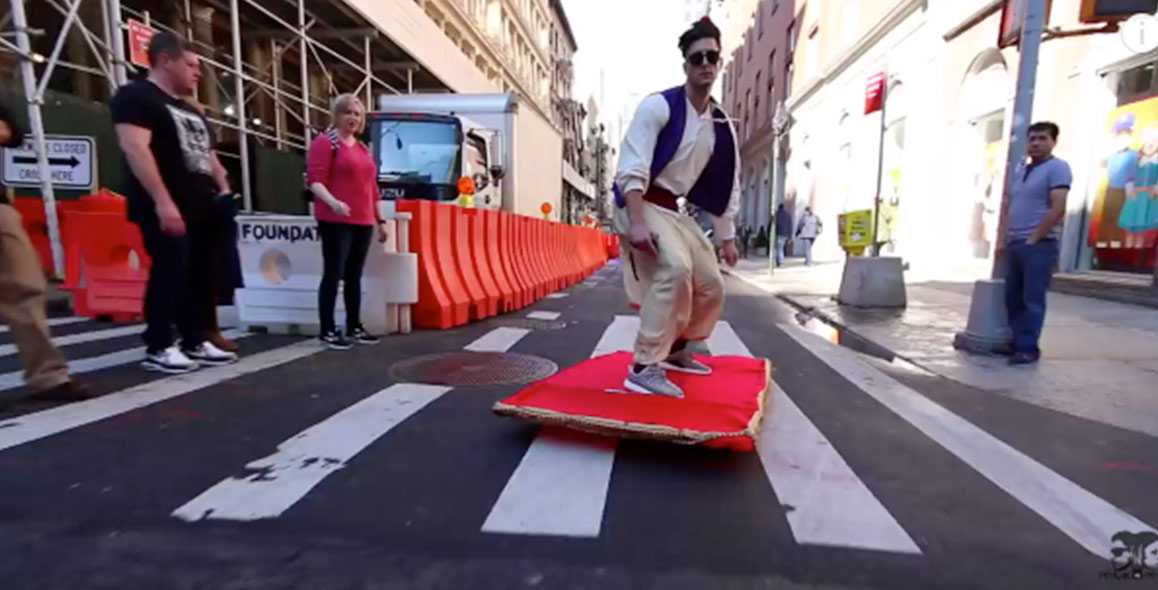 Aladdin Takes Magic Carpet Ride Through NYC