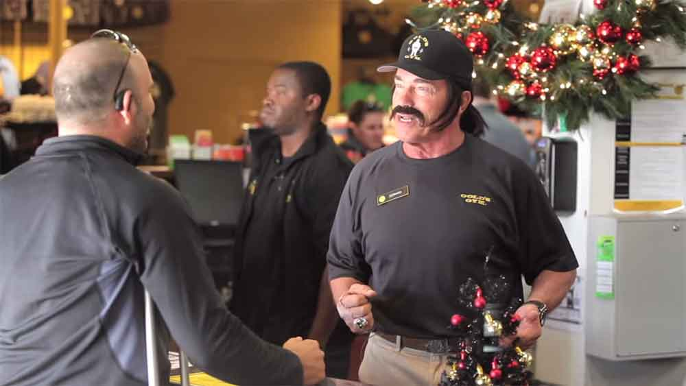 Arnold Schwarzenegger Works at Gold's Gym