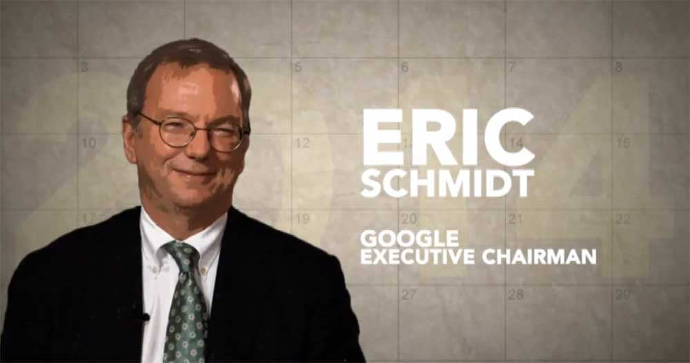 Ask a Billionaire: Google Executive Chairman Eric Schmidt's 2014 Predictions