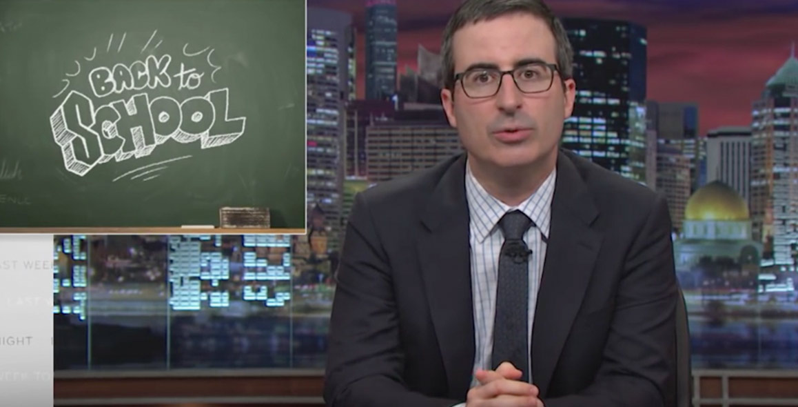 John Oliver Preps Students With Back to School Advice