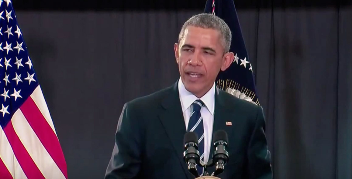 Watch President Obama Sing Can't Feel My Face
