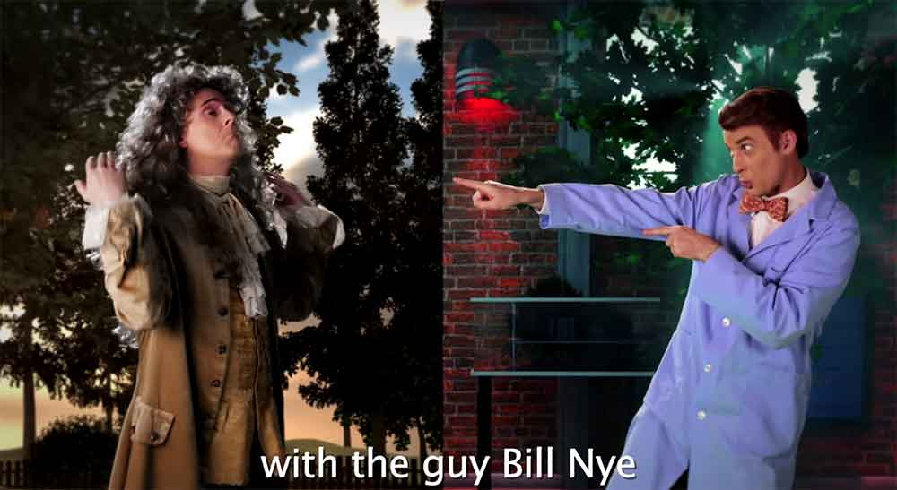 Sir Isaac Newton Takes on Bill Nye in a Historic Rap Battle (Featuring Neil deGrasse Tyson)