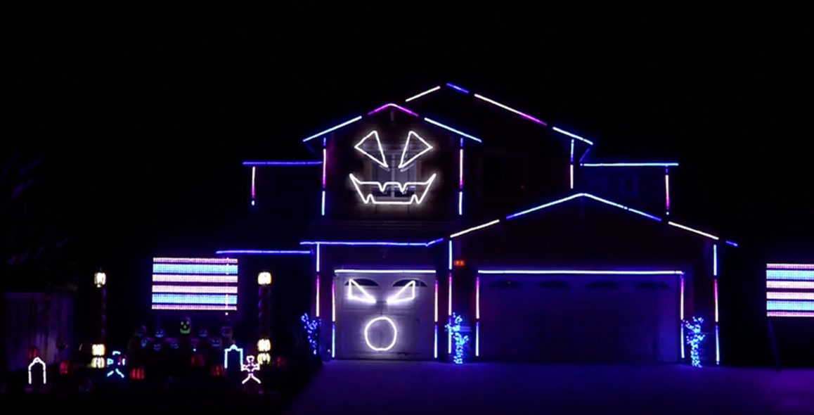 This Elaborate Light Show Takes Halloween Displays To Another Level
