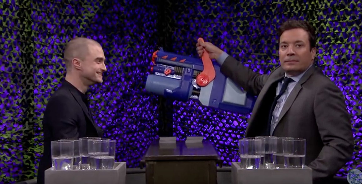 Daniel Radcliffe Can't Stop Laughing Playing 'Water War' With Jimmy