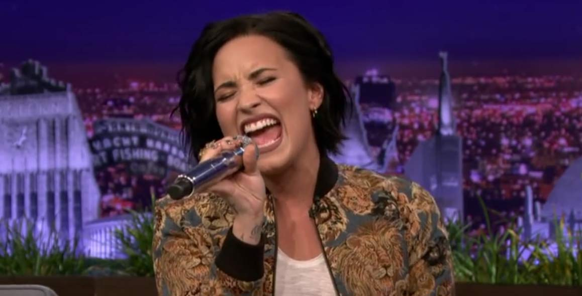 Demi Lovato Slays Christina Aguilera Impression