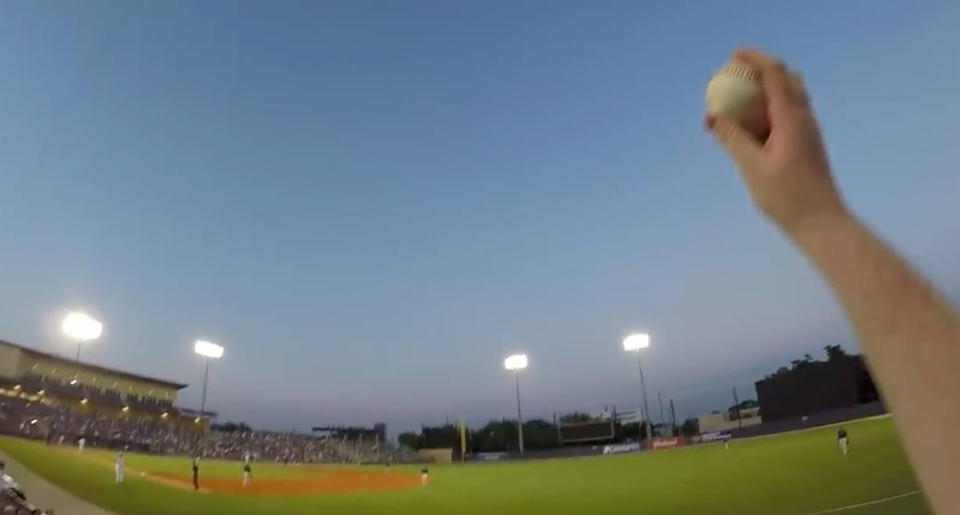 Fan Makes Incredible Barehanded Catch While Wearing A GoPro