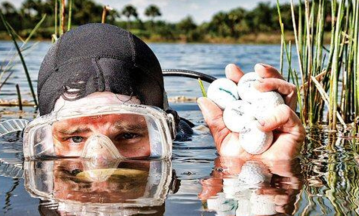Meet The Man Who's Made Millions Diving For Golf Balls