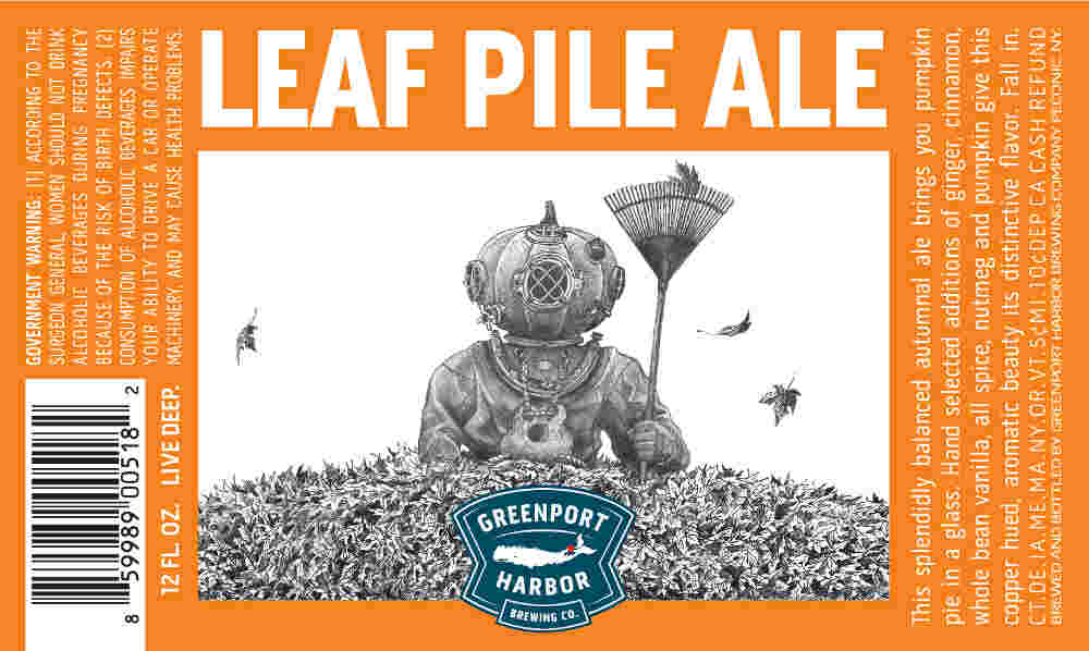 Beer Label Breakdown with Greenport Harbor Brewing's Artist Scott Bluedorn, Part 5: Leaf Pile Ale