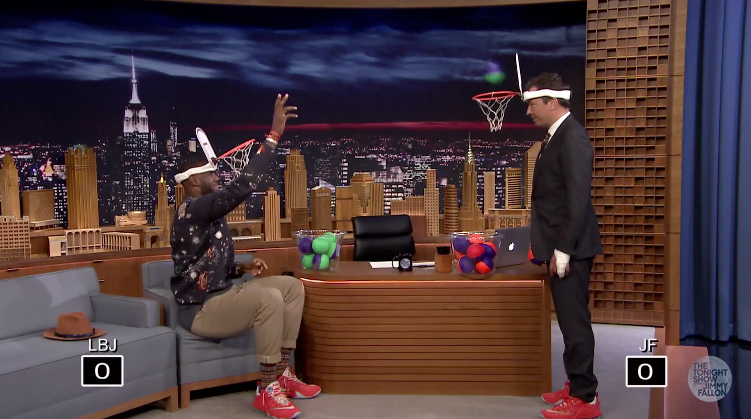 LeBron James Plays Faceketball with Jimmy Fallon