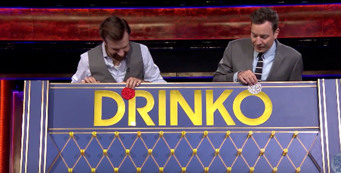 Jason Sudeikis Plays Drinko With Jimmy Fallon
