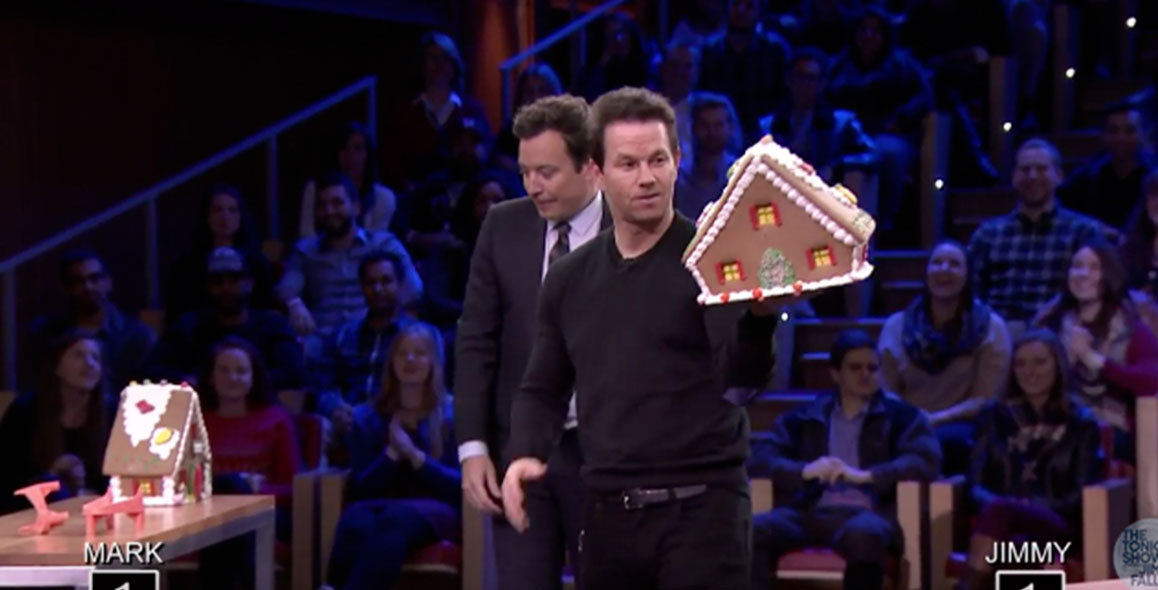 Watch Mark Wahlberg Toss Gingerbread Houses With Jimmy Fallon