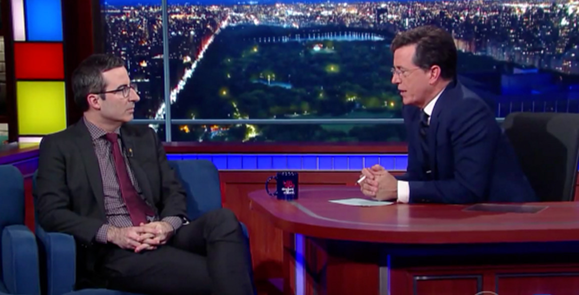 John Oliver Doesn't Care About Donald Trump At All