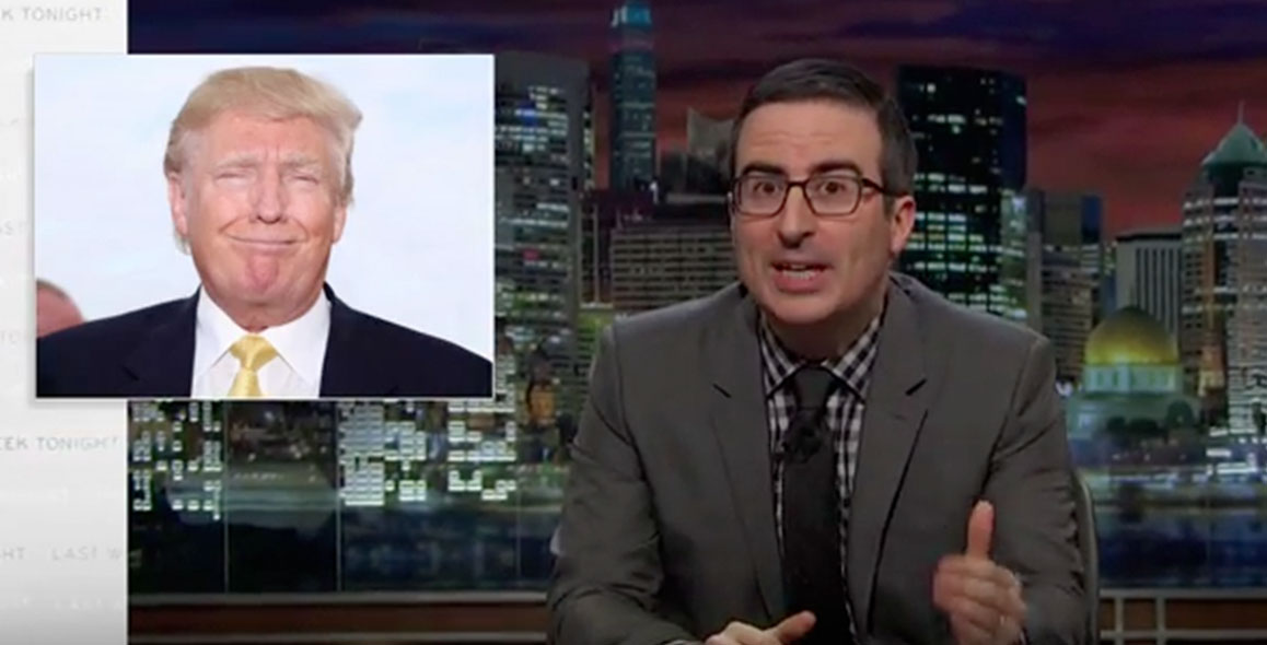 John Oliver Finally Takes Aim at Donald Trump
