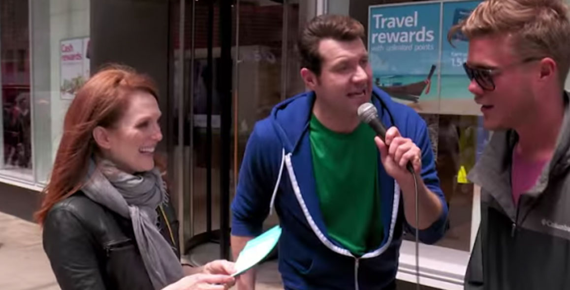 Julianne Moore Acts for Tips With Billy Eichner