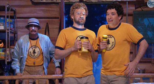 Summer camp BFFs Justin Timberlake and Jimmy Fallon sing Third Eye Blind