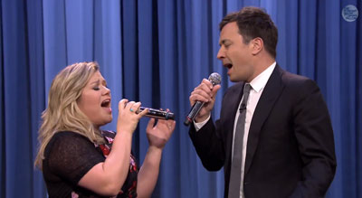 Jimmy Fallon and Kelly Clarkson Perform a History of Duets