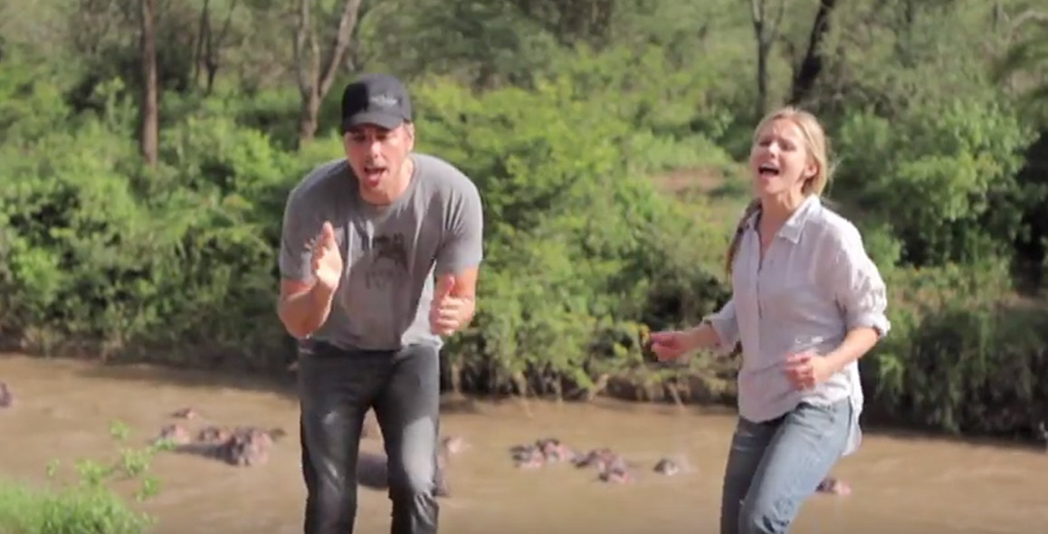 Dax Shepard & Kristen Bell Recreate Toto's 'Africa' On Safari