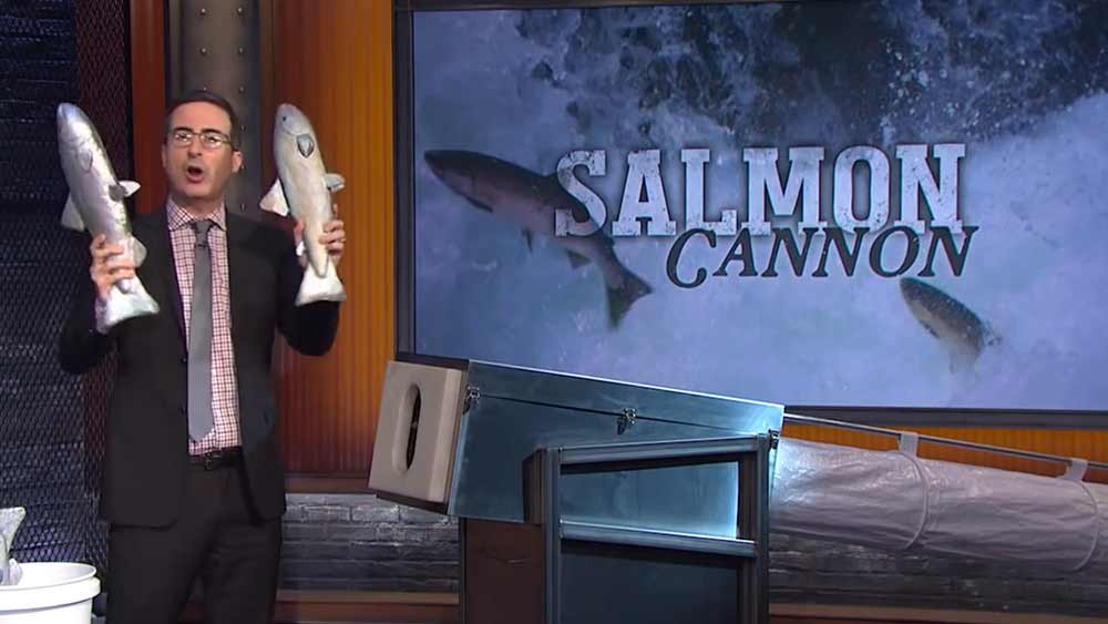 Last Week Tonight with John Oliver: Salmon Cannon