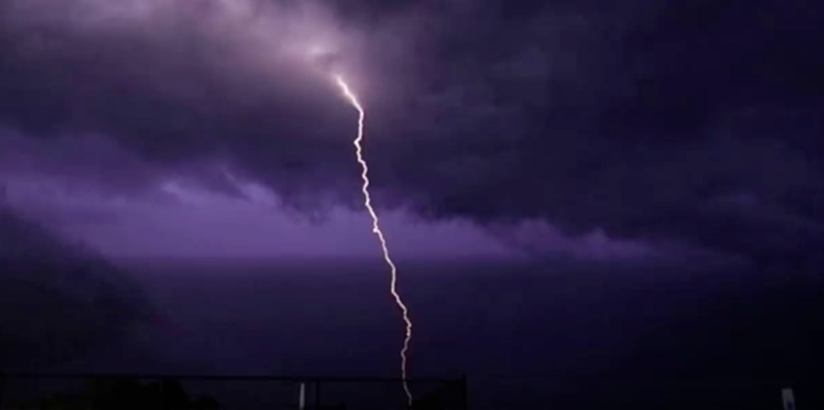 Powerful Thunderstorm Passes Over Long Island