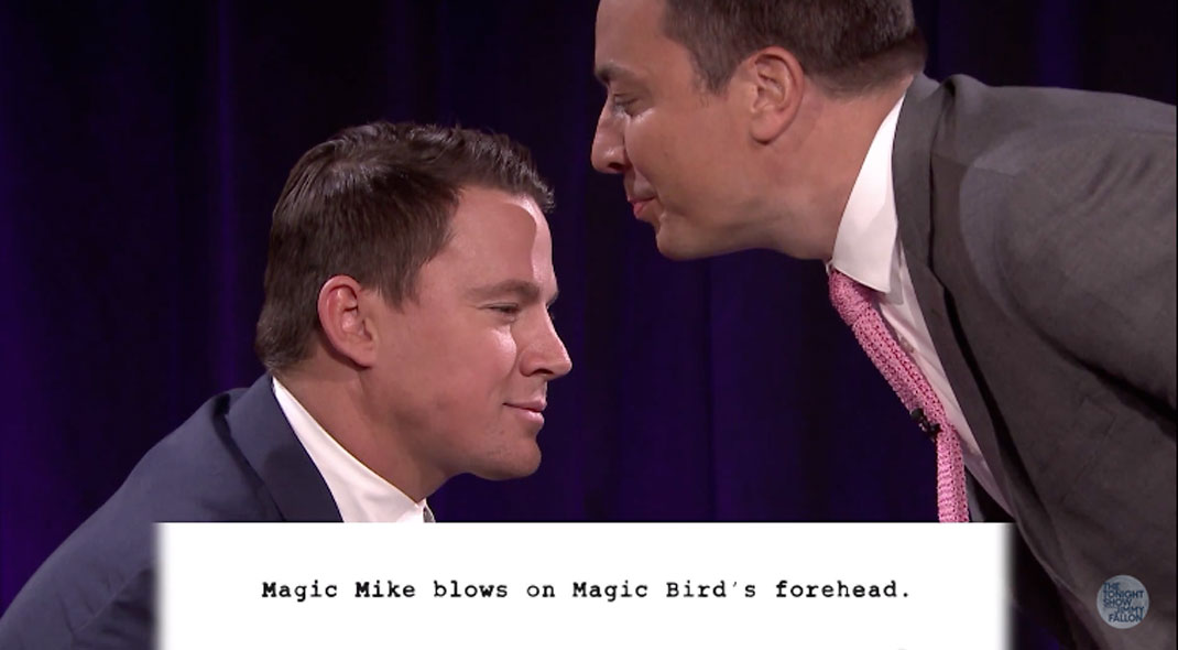 Channing Tatum and Jimmy Fallon Perform Kid-Written Versions of Magic Mike