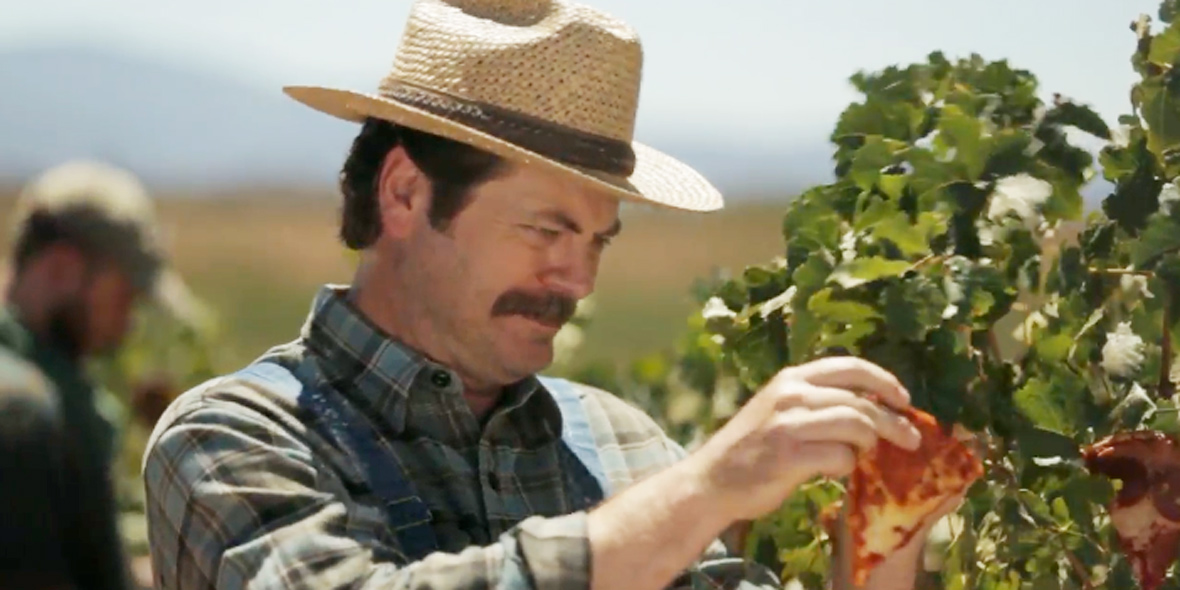 Nick Offerman Shows Off His Pizza Farm Where Healthy Lunches Are Grown!