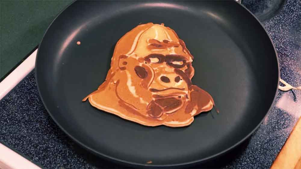 Pancake Apes! Artist Uses Pancakes as the Medium for His Unbelievable Creations