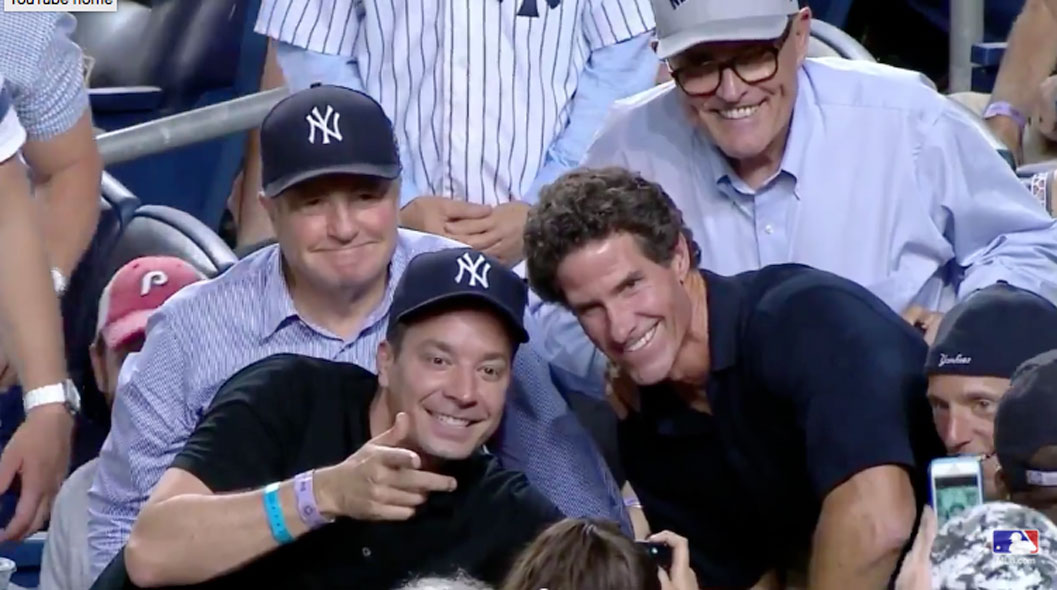 Paul O'Neill Leaves Booth During Game to Take an Epic Selfie With Jimmy Fallon