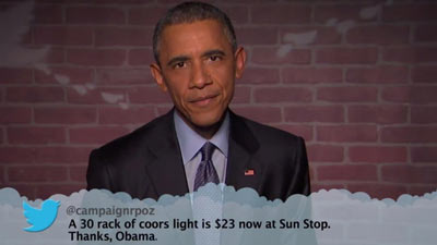President Obama Reading Mean Tweets on Jimmy Kimmel Live