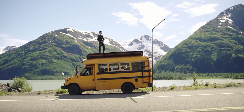 8 Friends Take Incredible Alaskan Road Trip in Old School Bus
