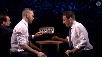 Jimmy Fallon Plays Egg Russian Roulette with Ryan Reynolds