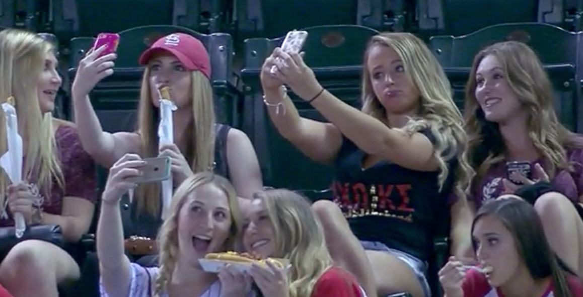 Pack Of Sorority Girls Caught Taking Selfies At Baseball Game Announcers Rip Them