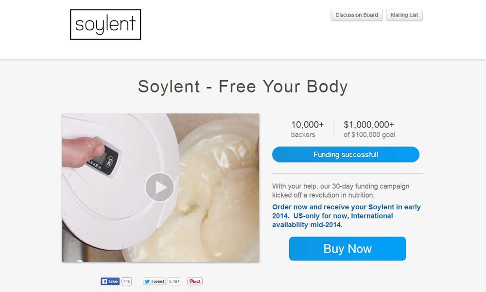 Soylent: Say Goodbye to Food