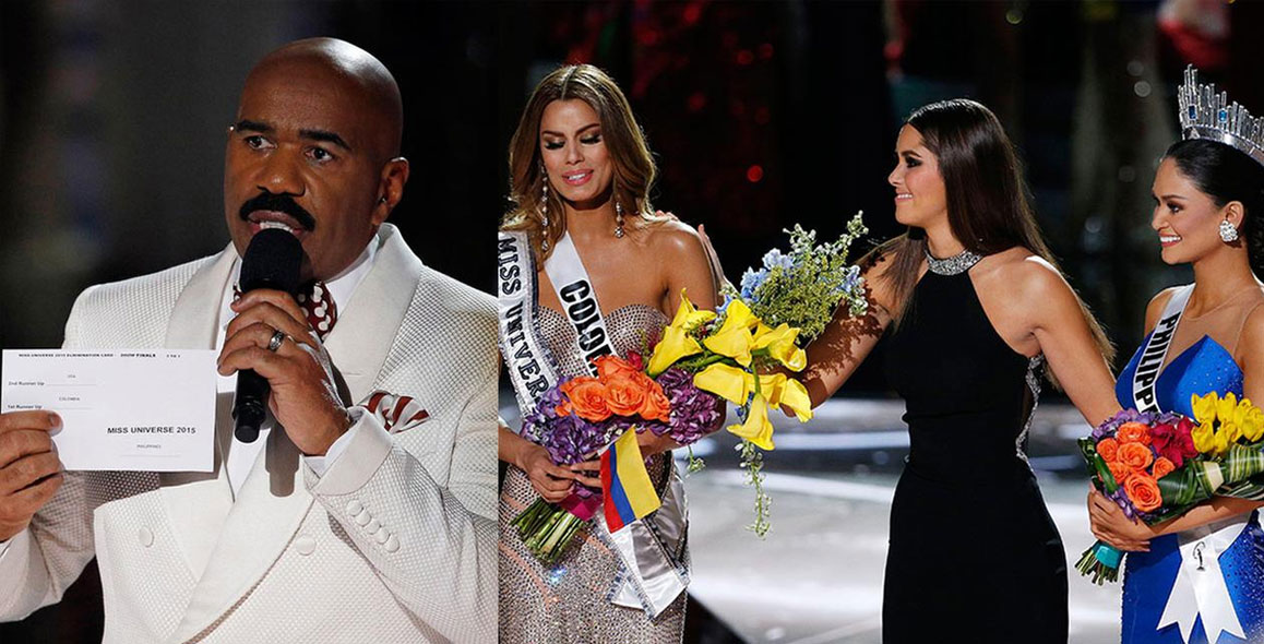 OMG! Steve Harvey Crowns Wrong Woman Miss Universe