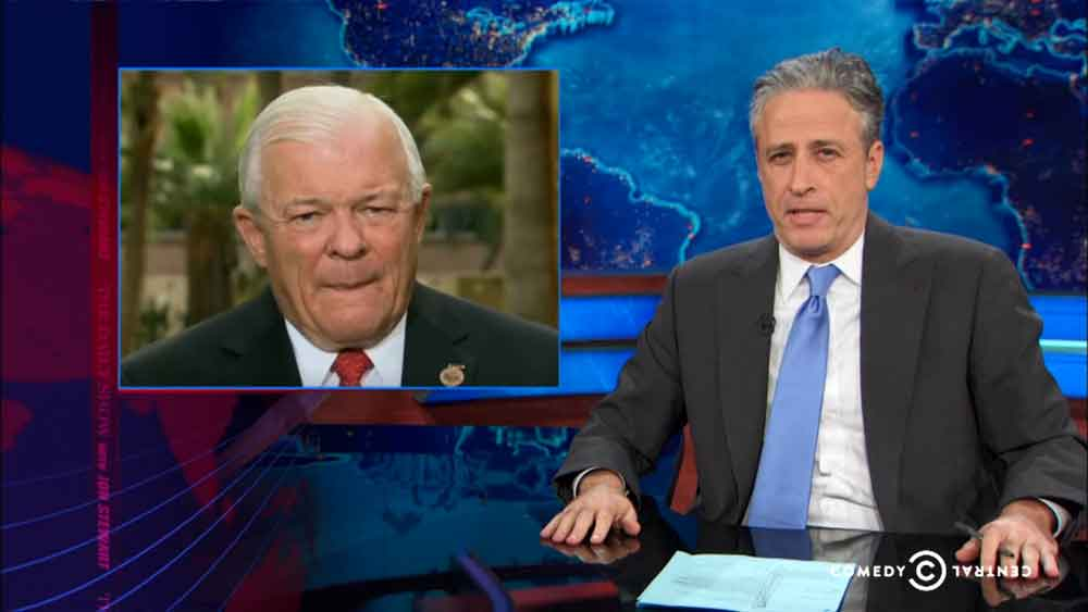 John Stewart Calls Out Arizona Legislators for Discriminating Against Gays
