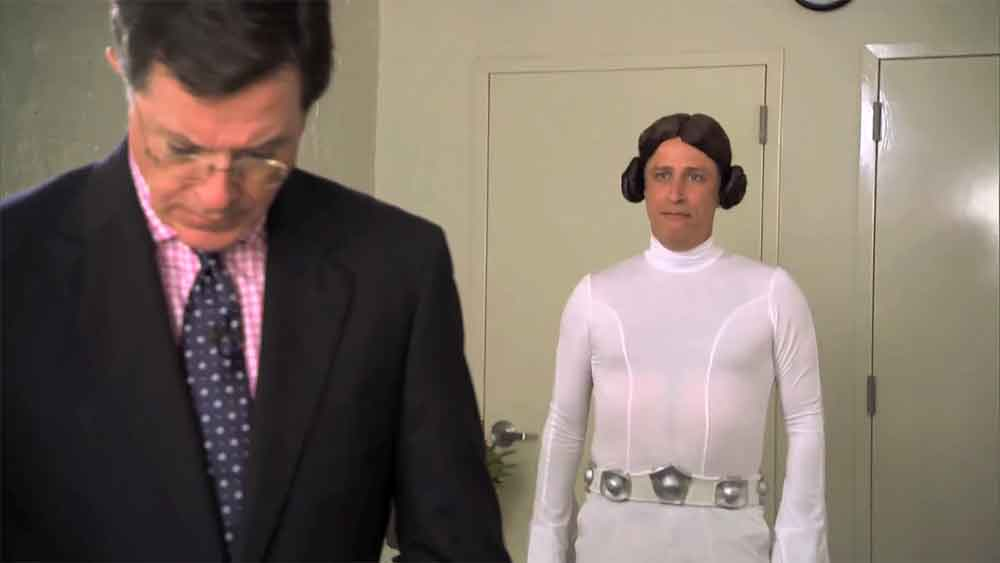 John Stewart and Stephen Colbert Battle for Title of World's Biggest Star Wars Fan