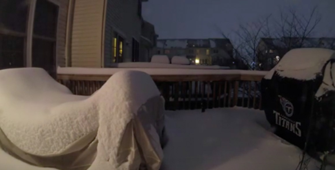 Virginia Man Records Incredible Blizzard Timelapse