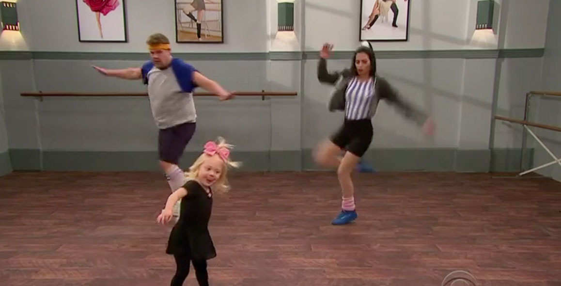 Jenna Dewan & James Corden Take Toddlerogrophy Class